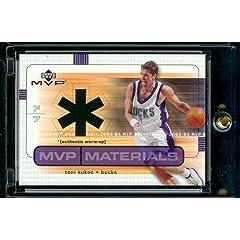 2003-04 Upper Deck MVP Materials Toni Kukoc Authentic Warm-Up Milwaukee Bucks...