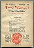 img - for Two Worlds . Volume One Number Two. December 1925 book / textbook / text book