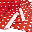 25 Papiert�ten - rot, wei�e Sterne - / Geschenkt�ten / Candy Paper Bags