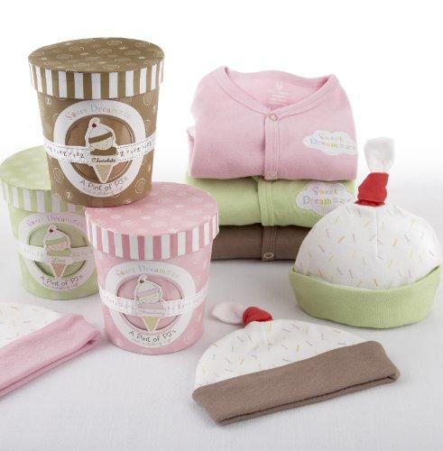 Imagen de Bebé Aspen Pint Dreamzzz Sweet Set de Regalo PJ Tiempo en reposo, 0-6 meses, Chocolate