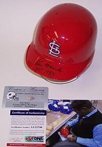 Lou Brock Autographed Hand Signed St. Louis Cardinals Mini Helmet - PSA DNA -... by Sports+Memorabilia