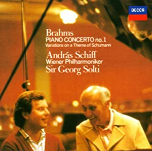 Andras Schiff / Solti & Vpo - Brahms: Piano Concerto No.1 / Variations On A Theme Of Schumann [Japan CD] UCCD-5118