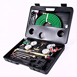 Gas Welding Cutting Kit Oxy Acetylene Oxygen Torch Brazing Fits VICTOR W/Hose by ChaiMind