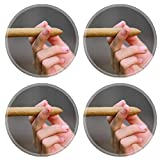 Liili natural rubber Round Coasters IMAGE ID: 19481923 Someone holding a cigar and getting ready to light it