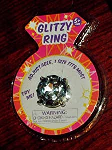 Glitzy Imitation Diamond Rings for Girls - Diamond Rhinestone