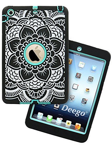 Purchase iPad Mini Case, Adela Shop 3in1 Shockproof Hybrid Case Hard Cover Pc+Silicone Full Body Pro...