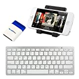 iKross Bluetooth Portable Keyboard + Cell Phone Stand Holder For Apple iPhone 6 / 6 Plus / 5 / 5S/ 5C/ 5, 4S 4... by iKross