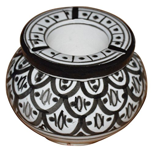Ceramic Ashtrays Hand Made Moroccan smokeless Ceramic Vivid Colors Small
