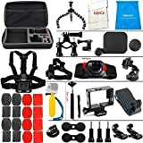 LifeLimit SB111111 Accessories Kit for Hero 5 / Session / Gopro Hero 4 / Gopro Hero 3 / Gopro Hero 2 and Gopro Hero HD (40 Items)