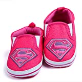 Baby Bucket BABY BUCKET Antislip Light Weight Soft Sole Superman Baby Shoes First Walkers Pink