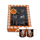 Chocholik Belgium Chocolate Gifts - Attractive Treat Of Chocolate Hearts With Diwali Special Coffee Mugs - Diwali...