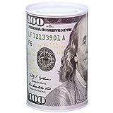 Homebay 100 Dollar Bill Metal Money Coin Piggy Bank (Color: White, Green, Grey)