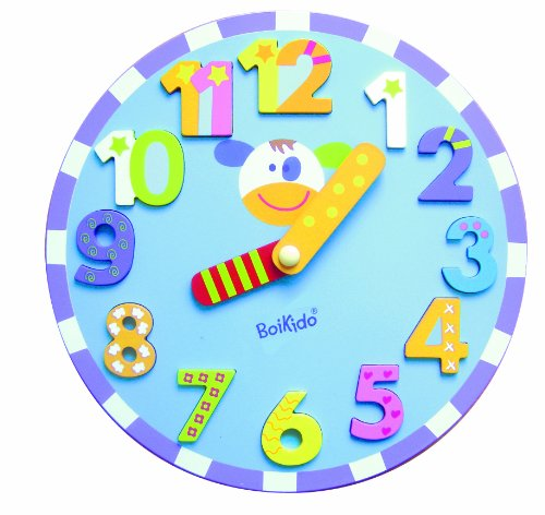 Boikido Wooden Chunky Clock Puzzle