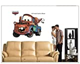 Make it Magical Crafts & Gifts® Disney Pixar Cars (Mater) Wall Stickers Decal (86cm x 65cm)