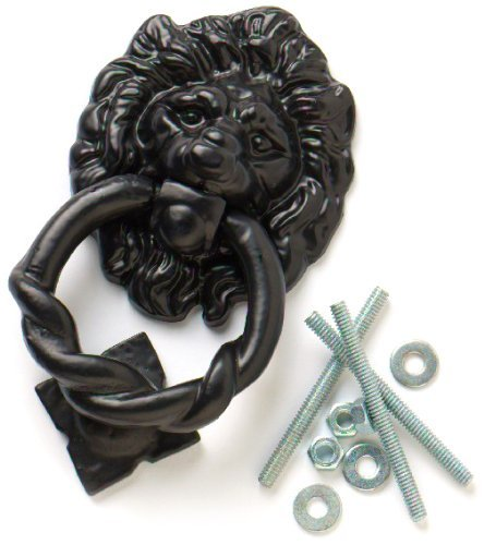Bulk Hardware 160mm Lions Head Antique Door Knocker