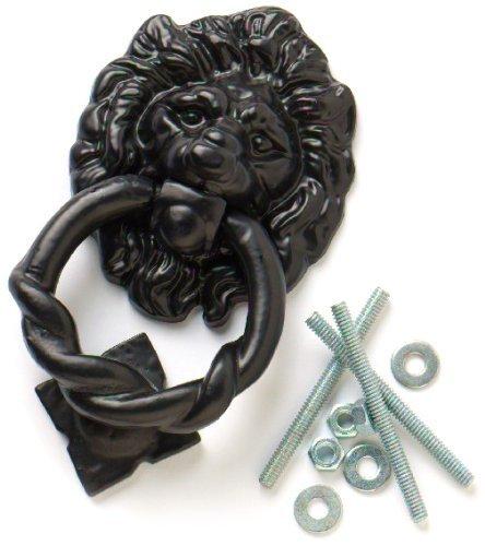 Bulk Hardware 160mm Lions Head Antique Door Knocker - Black by Bulk Hardware 0