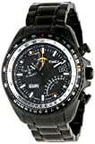 Timex Men's T2P103 Black Stainless-Steel Analog Quartz Watch with Black Dial