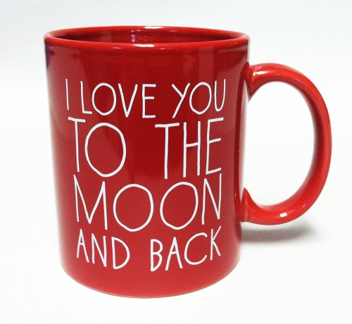 I Love You to the Moon and Back- Coffee Mug Red