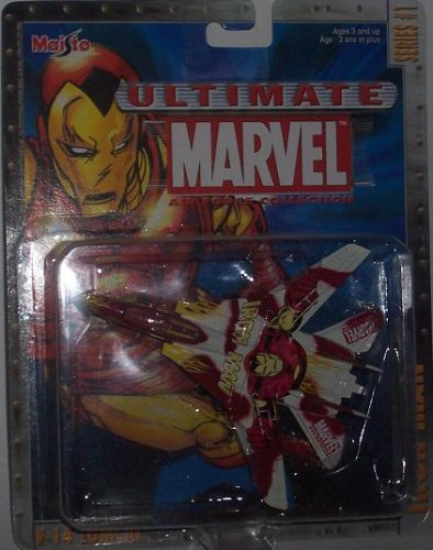 Maisto Ultimate Marvel Air Force Iron Man F-14 Tomcat Fighter Airplane Diecast Plane - 1