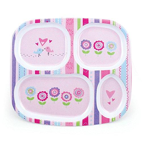 Bumkins Melamine Plate, Girl front-1011694