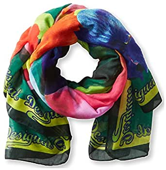 Desigual - sid - foulard - imprimé - femme - marron (sahara) - taille unique