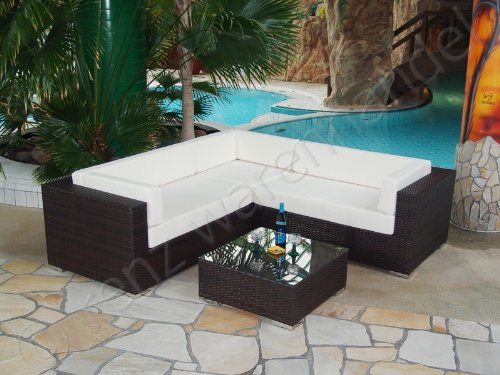 gartenm bel sitzgruppe polyrattan schwarz modena 3 g nstig online kaufen. Black Bedroom Furniture Sets. Home Design Ideas