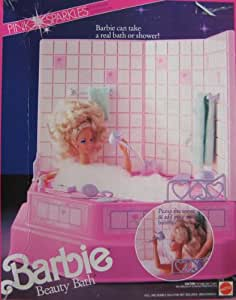 barbie pink sparkles beauty bath shower bathtub playset 1990 toys games. Black Bedroom Furniture Sets. Home Design Ideas