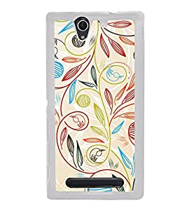 Beautiful Pattern 2D Hard Polycarbonate Designer Back Case Cover for Sony Xperia C3 Dual :: Sony Xperia C3 Dual D2502