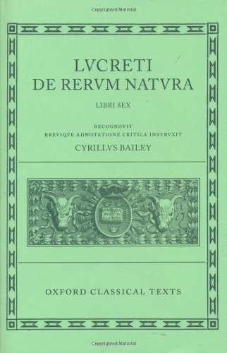 De Rerum Natura (Oxford Classical Texts) (Bks.1-6) (Latin...