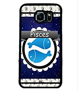 Fuson 2D Printed Sunsign Pisces Designer back case cover for Samsung Galaxy S6 Edge - D4433