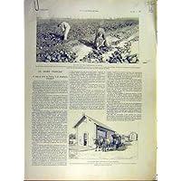 Impresión Antigua del Francés 1902 de la Fábrica de la Refinería de Francia de la Remolacha