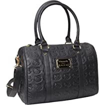 Hello Kitty SANTB0720 Satchel,Black/Gold,One Size
