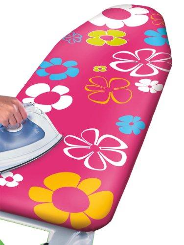 wenko-1235642500-pink-flowers-funda-de-algodon-para-tabla-de-planchar-con-acolchado-lavable-revestim