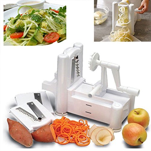 Hot Bestseller Slicers Tri-Blade Vegetable Spiral Slicer Spiralizer Veggie Cutter Spaghetti Pasta Maker (Keurig Cutter compare prices)