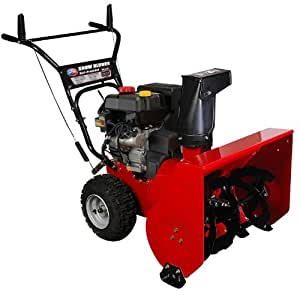 All Power America APSB2421 24-Inch 208cc 4-Stroke Gas Powered Two Stage Snow Thrower With Electric Start
