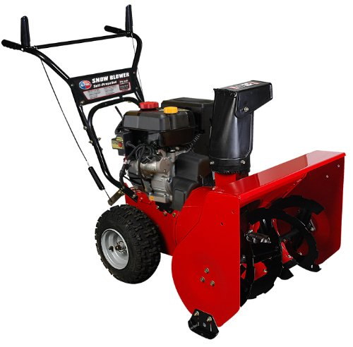 All Power America APSB2421 24-Inch 208cc 4-Stroke Gas Powered Two Stage Snow Thrower