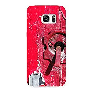 Sky Print Red Door Back Case Cover for Galaxy S7 Edge