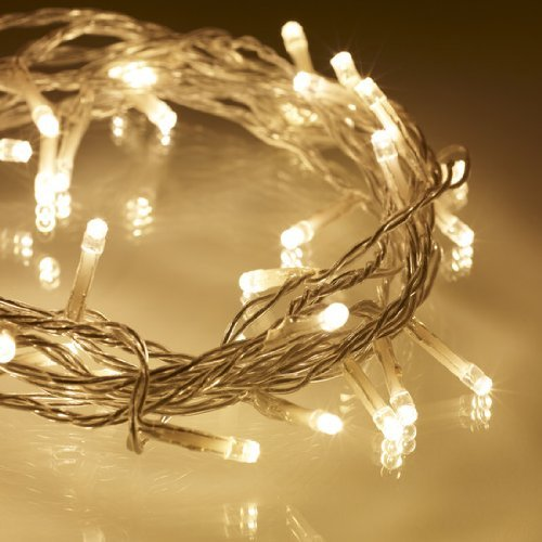 Texo 10M 100 Led Fairy String Lights, Idea for Indoor and Outdoor Decorations (Warm White)