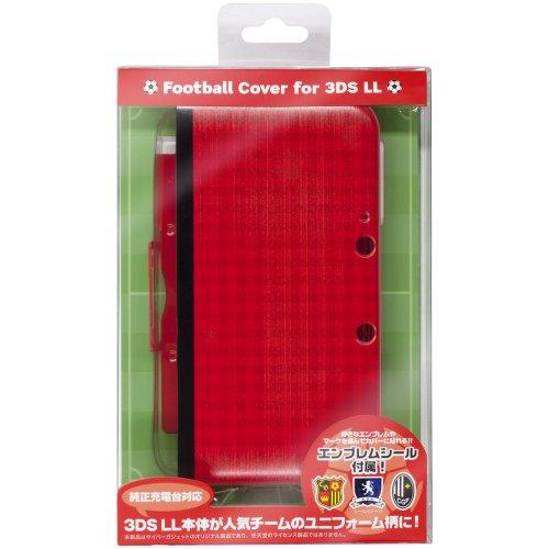 CYBER ・ フットボールカバー ( 3DS LL 用) レッド 【専用充電台 併用可能】