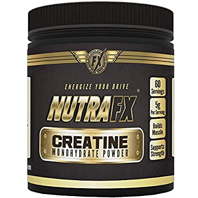 Nutrafx Creatine Monohydrate Powder 300g (Micronized) Gain Serious Mass Muscle up Powder Pre Workout Powder