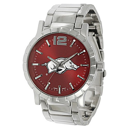 Geneva Platinum Men's Arkansas Razorbacks Link Watch Steko LTD at Amazon.com