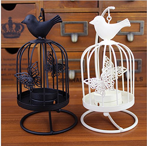New Design Beautiful Bird Cage Tea Light Candle Holder with stand