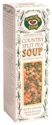 Buckeye Beans and Herbs Country Split Pea Soup, 14-Ounce Boxes (Pack of 12)