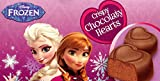 Disney Frozen Heart Shaped Valentines Crispy Chocolate Hearts 2 Pack Has to and From Greeting on Each Box