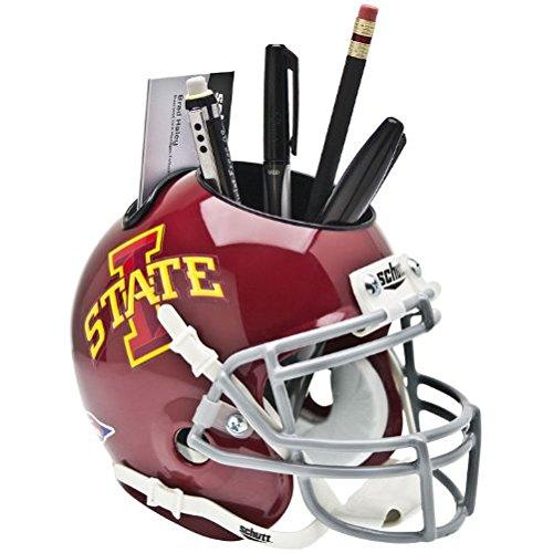 IOWA STATE CYCLONES NCAA Schutt MINI Football Helmet OFFICE PEN/PENCIL/BUSINESS CARD HOLDER ISU (Iowa State Football Helmet compare prices)
