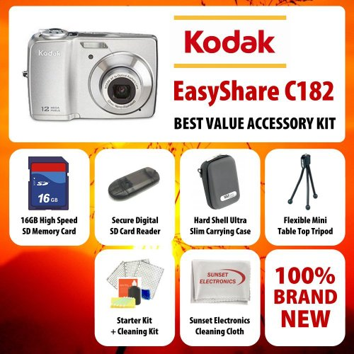 Kodak Easyshare C182 Point-and-shoot Digital Camera (Silver), 12 Mp, 3x Optical Zoom Lens, 3