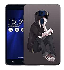 Snoogg Lonely Guy In Rain Designer Protective Back Case Cover For ASUS ZENFONE 3 ZE520KL