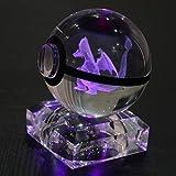 S-SO Charizard 3D K9 Crystal ball Pokemon Pokeball Elf Night Children room LED desk table color changing light lamp