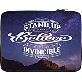 Snoogg Stand Up And Believe 2740 10 To 10.6 Inch Laptop Netbook Notebook Slipcase Sleeve