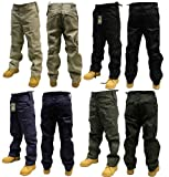 Adults Plain Combat Trousers color - Black,size -W30/L32